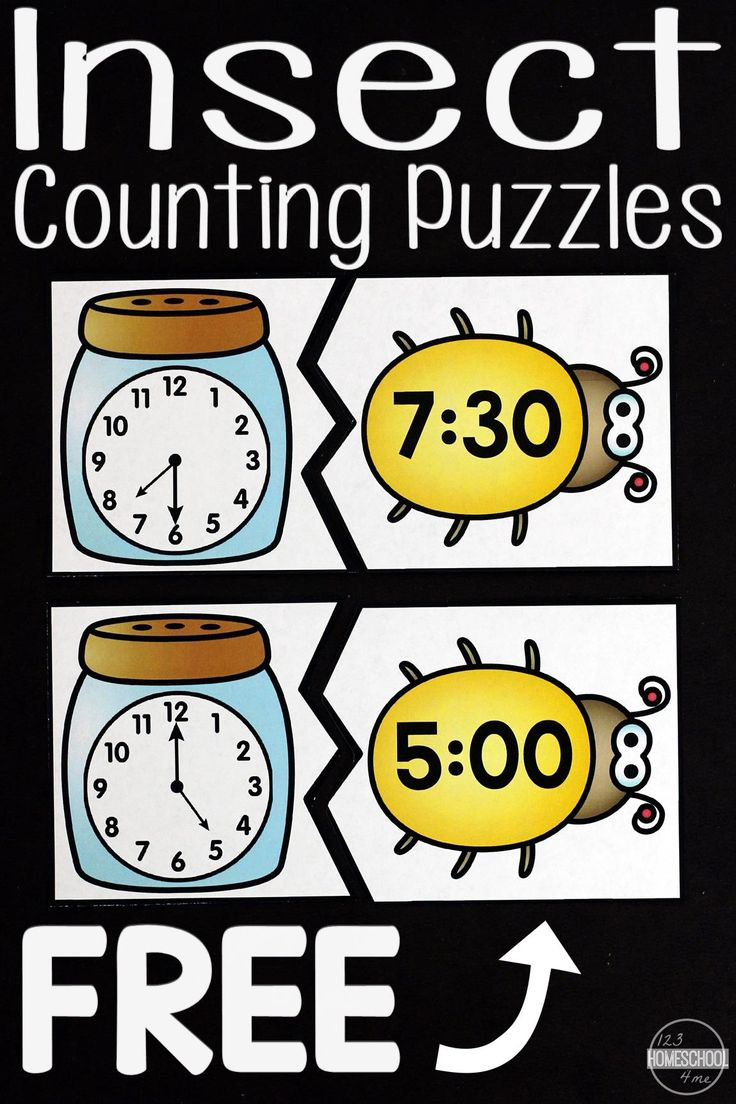 Best 25 telling time activities ideas on pinterest math is fun free insect telling time puzzles these are such a fun way for kids to practice identifying time on a clock to the half hour and hours robcynllc Images