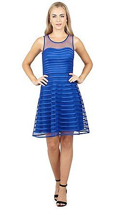 Izabel London - Blue ribboned tier dress  33364fb89