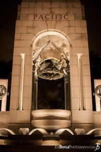 While I was in Washington, DC I was able to take some great night images of a few of the iconic landmarks that make up this city! Here is an image of the Pacific pillar at the World War II Memorial!