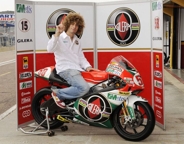 The late Marco Simoncelli on the 100th Anniversary Gilera GP. #58 | burning fuel | Pinterest ...