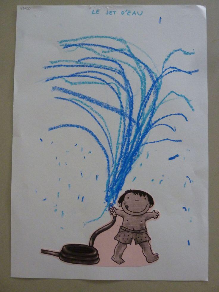 Onder de sproeier leuker om zichzelf te tekenen onder de sproeier!