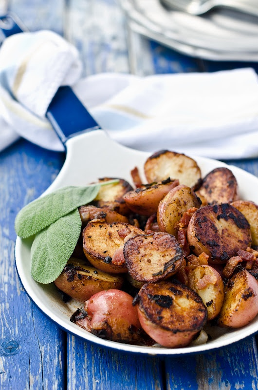 Red Potatoes with Bacon and Sage