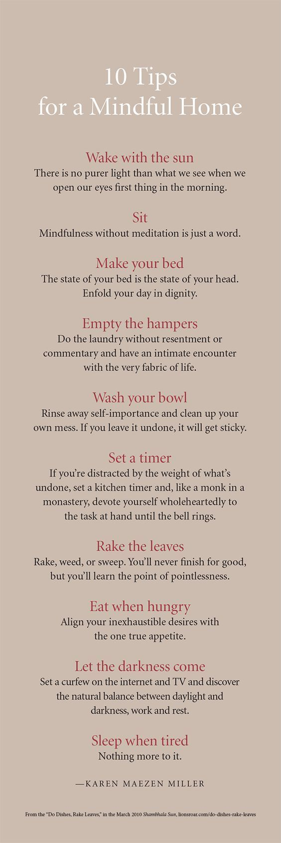 10 tips for a Mindful Home. Click On The Picture To Watch Our Free Videos On Different Topics, From Mindfulness to Self-Esteem And A Lot More.*****