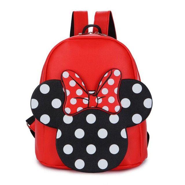 Bow PU Backpack Kids Bags Cute Cartoon Character Printing Baby Children Backpacks Kindergarten School Backpacks for Boys Girls