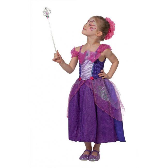 Paars prinsessen kostuum voor meisjes. Sprookjes jurk voor meisjes in de kleuren paars met roze. Carnavalskleding 2015 #carnaval