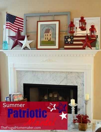 Summer Patriotic Mantel