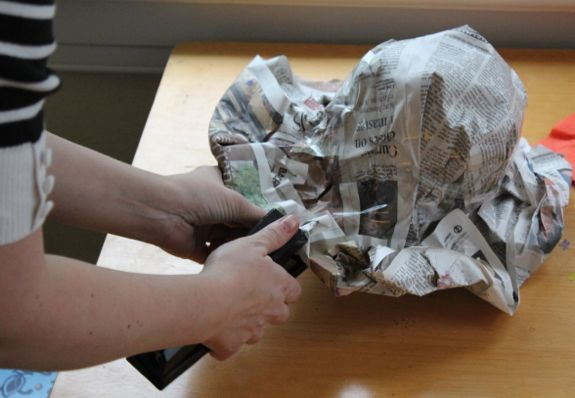 paper hat from newspaper- simple