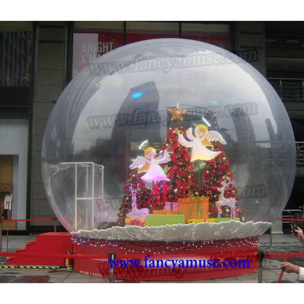 10ft Diameter Blowup Snow Globe With Christmas Tree And Many