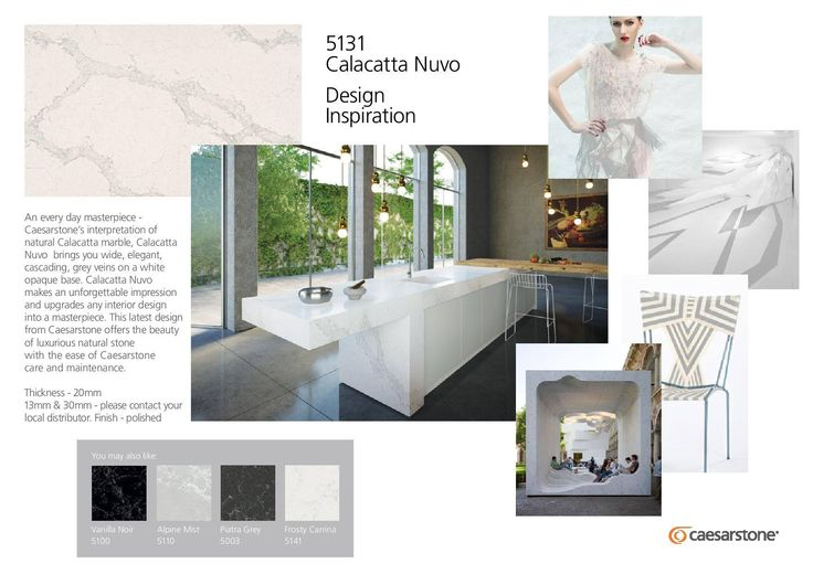Inspired by natural Calacatta marble, Caesarstone's new Calacatta Nuvo 5131 uniquely brings together the hottest design trend with nature's timeless appeal.  Get inspired with Calacatta Nuvo: http://calacatta.caesarstone.com/?utm_source=facebookutm_medium=postutm_campaign=calacatta