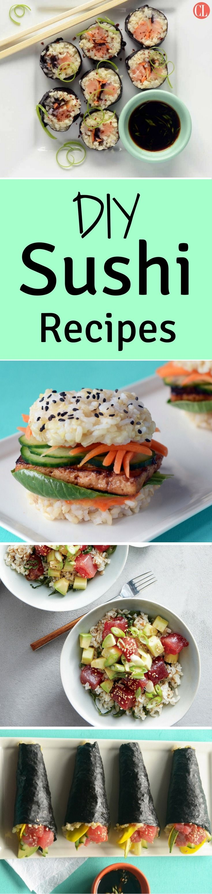 The combinations are endless, and creativity is encouraged. You really only need a few ingredients and a towel (no need for a bamboo mat), and you can get rolling. If sushi rolls aren't for you, fresh poke bowls, sushi sliders, and burritos are light yet satisfying meals that will cure your cravings. Here are easy recipes to get your at homemade sushi journey started. | Cooking Light