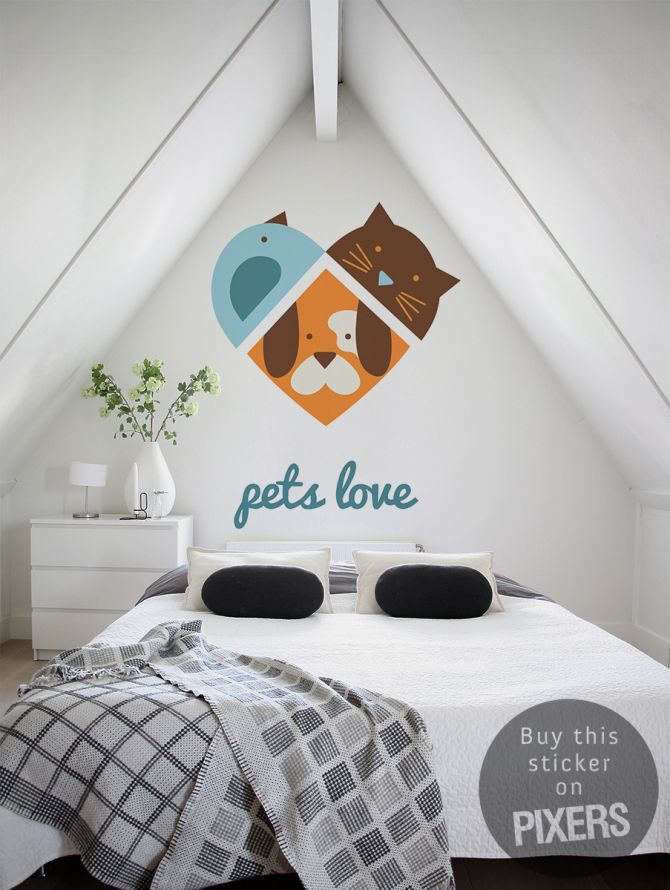 Pets Love - inspiration from PIXERSIZE.com #wall decal #sticker