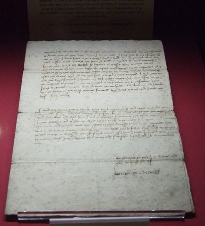Katherine Parr's love letter to Thomas Seymour.