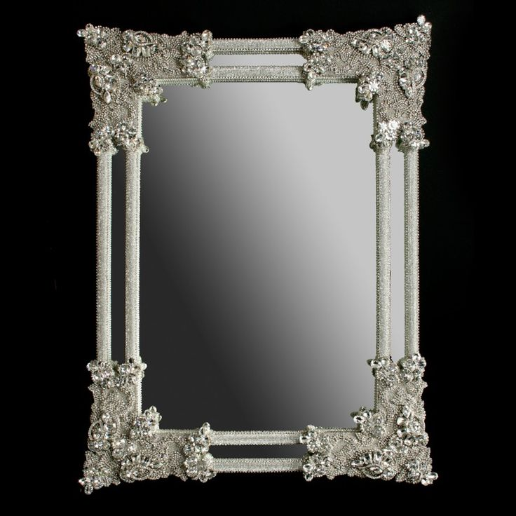 Wall Mirrors With Crystal Frames Bb Simon Swarovski