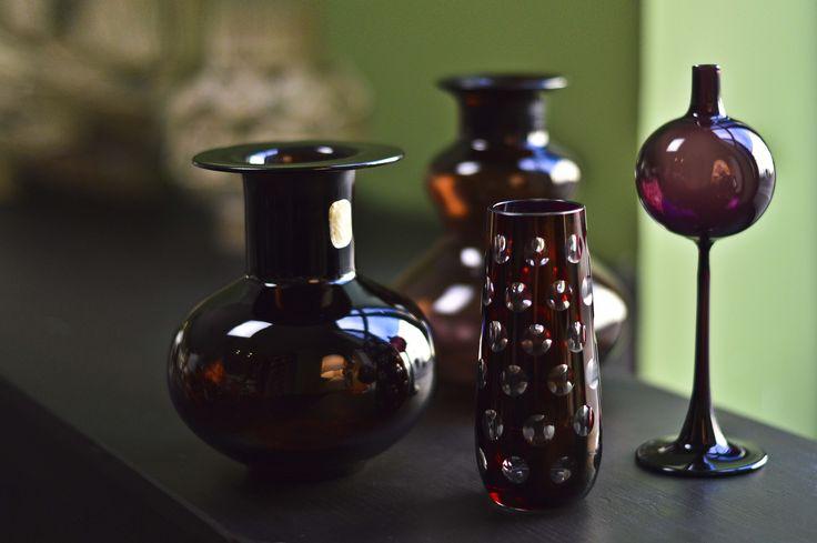 Purple DDR glass vases