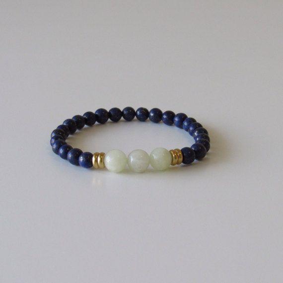 Lapis Lazuli Bracelet Wrist Mala Yoga Bracelet by BBTresors