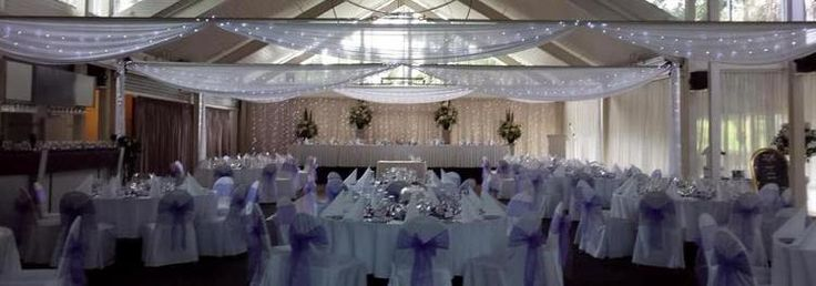 Ceiling Draping with Fairylights Colebee Center