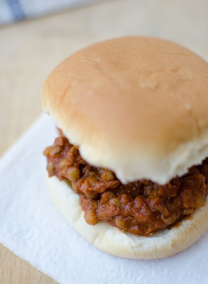 Lentil Sloppy Joes loved by vegans and meat eaters alike! Hearty lentils cooked in a spicy, tangy sauce. Each sandwich packs 12g of fiber and 10g of protein.