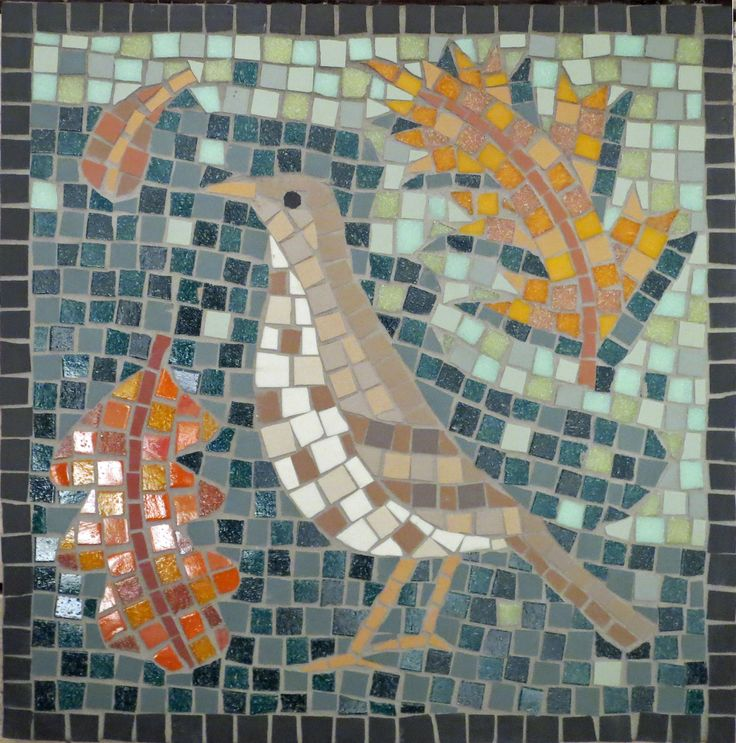 mosaic mistle thrush sample for downs park road mosaic