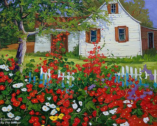 Robert Savignac, 'L'été', 24'' x 30'' | Galerie d'art - Au P'tit Bonheur - Art Gallery