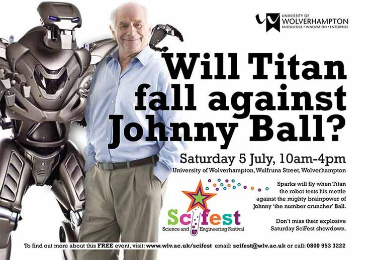 Will Titan fall against Johnny Ball? http://www.wlv.ac.uk/scifest