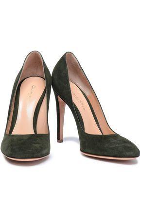 6f6ab6c3a27994 GIANVITO ROSSI Velvet pumps Echarpe, Lunettes, Sandales, Talons, Chaussures  Haut Talon,