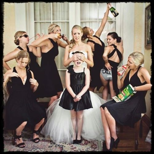 Totally funny bridesmaid pic THAT WE WILL BE DOING SO PICK YOUR PART NOW LADIES LOL Brezzy has already called the panties pose lol