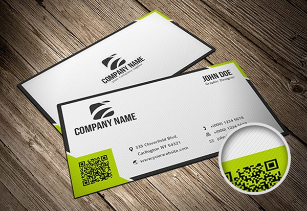 8 best business cards images on pinterest business cards business download this nice free business card with qr code template double sided in d reheart Images