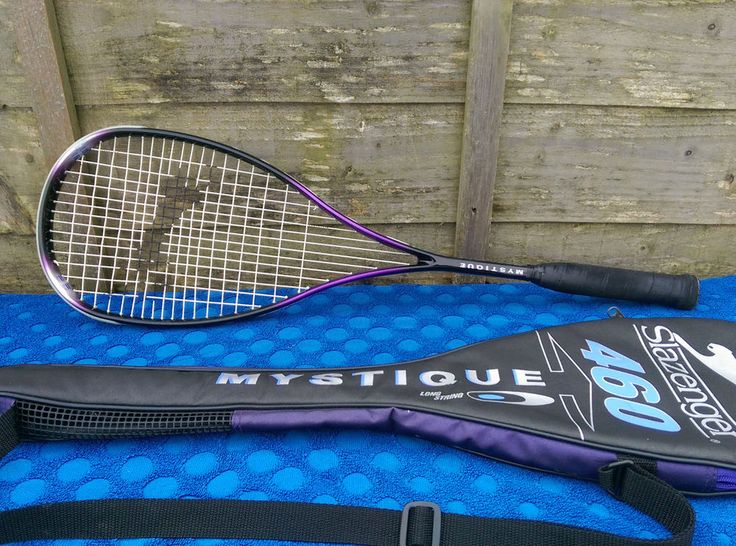 "Slazenger 460 Mystique Squash Racket Triple Taper System Over Size Head 212g 27"" in Sporting Goods, Squash, Rackets 