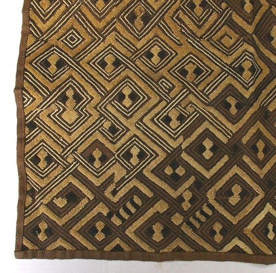 Vintage African Textile Zaire Woven Kuba Cloth Item 2 by rayela, $75.00