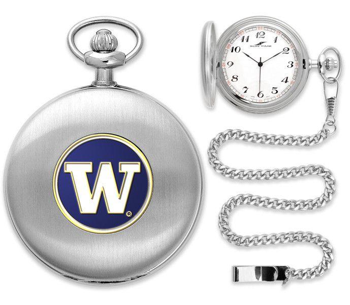 NCAA Washington Huskies-Pocket Watch - Silver