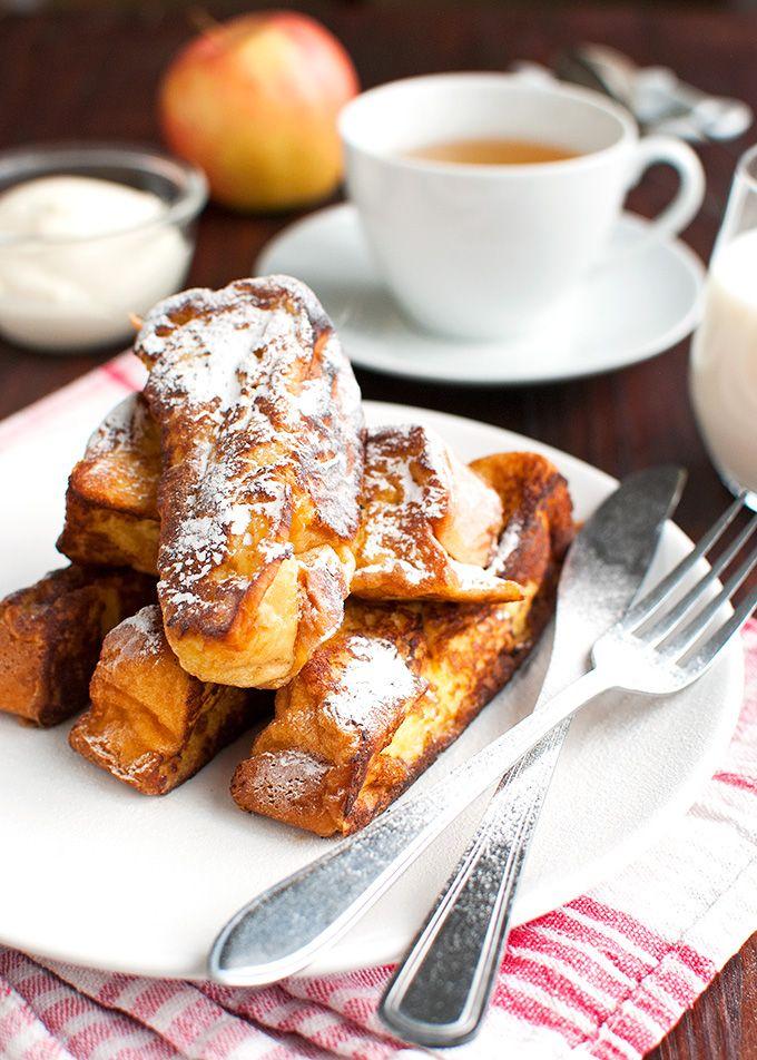 The Tough Cookie   Brioche French Toast with Vanilla Crème Fraiche   http://thetoughcookie.com