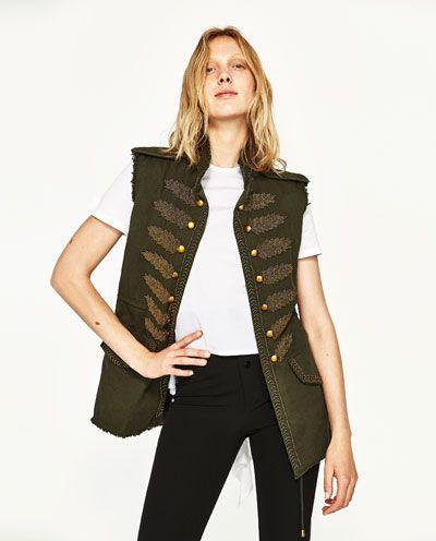 Image 2 of MILITARY WAISTCOAT from Zara