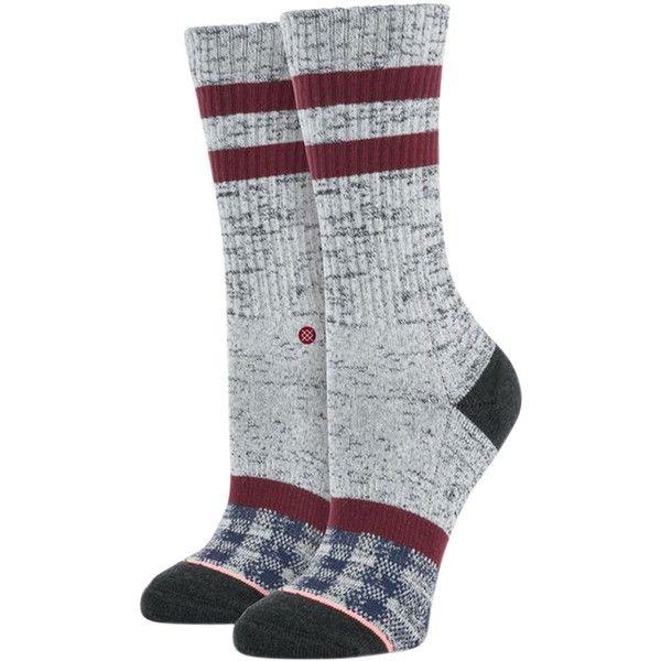 Stance Patchwork Sock (40 BRL) ❤ liked on Polyvore featuring intimates, hosiery, socks, color block socks, tartan socks, pocket socks, cuff socks and athletic stripe socks