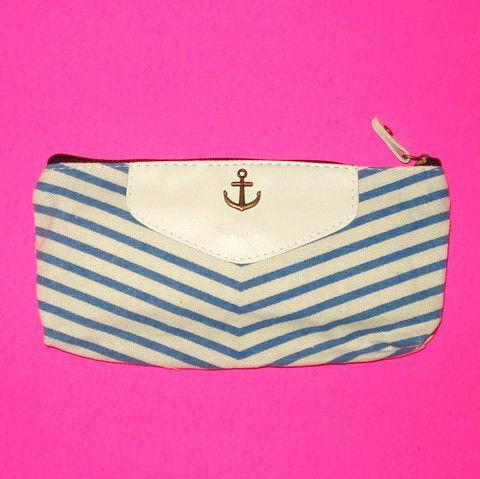 Anchor Stripe Clutch - Blue Feelings