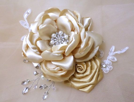 Wedding Hair Flower Wedding Headpiece by MagicBluebellDesigns