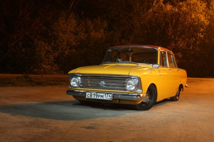Moskvich 408 my parents first car blue with 4 headlights