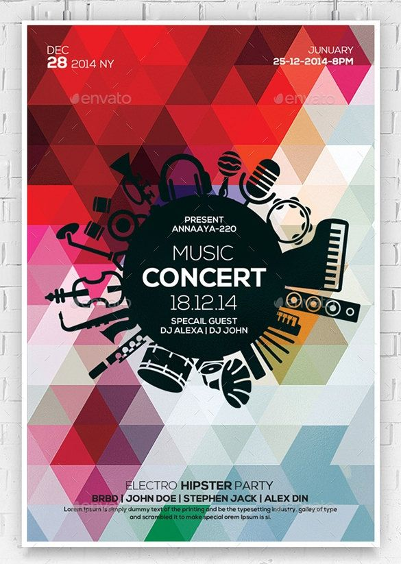 Concert Flyer Templates Free Download Music Flyer Birthday Flyer Concert Flyer