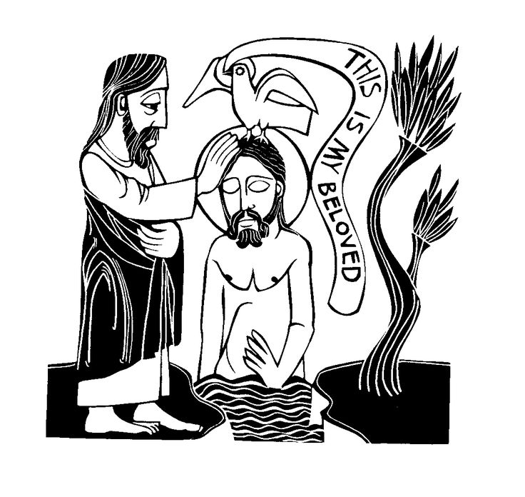 Simple Baptism Of Jesus Coloring Page 89 This is My Beloved