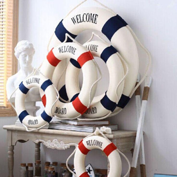 Foam Home Decor Nautical Decorative Lifebuoy Life Ring Wall Hanging Showcase