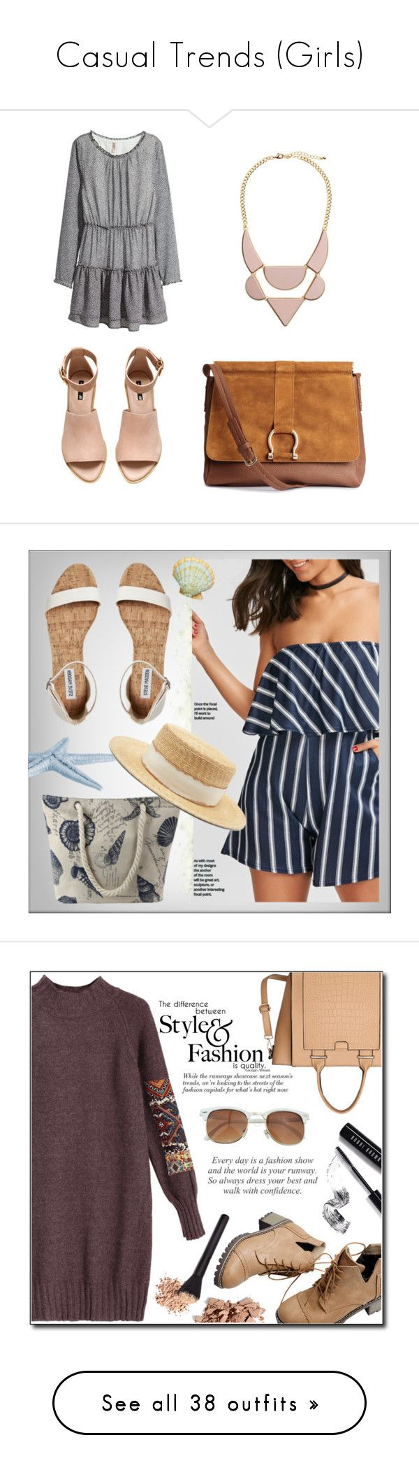 """""""Casual Trends (Girls)"""" by lhocreations ❤ liked on Polyvore featuring H&M, Filù Hats, Trish McEvoy, Bobbi Brown Cosmetics, Wrap, Spy Optic, Chiara Ferragni, NARS Cosmetics, ALDO and Marc by Marc Jacobs"""