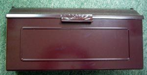 Special Leaf Floral Mailbox 1 (Burgundy) by Get My Mailbox and MORE!. $139.00. Our elegantly crafted mailbox combines style, function and durability. It features a graceful leaf motif that is a natural reflection of outdoor beauty. This wonderful mailbox is cast aluminum with a powder coated finish - CANNOT RUST!!! Guaranteed to hold its beauty through years of use, this mailbox compliments the entry to any home.