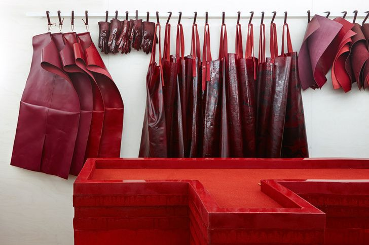 Studio Toogood Create Bloody Installation For Hermès petit London Store   Photo
