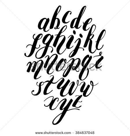 Modern Calligraphy Alphabet Stock Photos, Royalty-Free Images ...