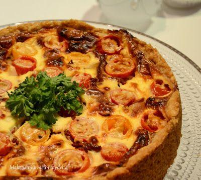Makeaa murmelin täydeltä: Taivaallinen tomaatti-vuohenjuustopiirakka