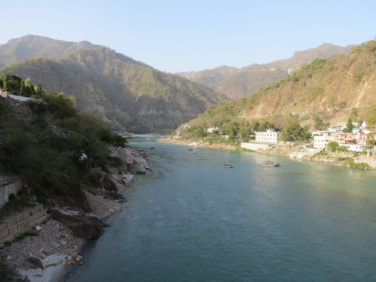 The pristine Ganges at Rishikesh. We went white water rafting and the emerald water was so clear we could see the river bottom. Freezing though, fresh off the Himalayas.