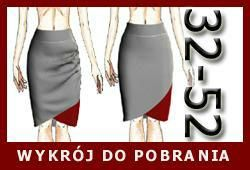 Ruched Tulip Skirt (Choose language translation in upper right corner)
