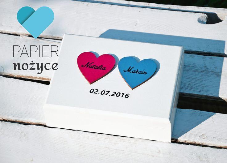 Więcej kolorów :) Personalizowane pudełko na obrączki. Więcej na https://www.facebook.com/Papier.nozyce/?fref=ts  http://papier-nozyce.pl/