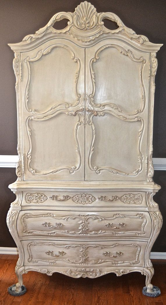 Romantic Vintage French Provincial Chest of Drawers Armoire Cabinet chic chifferobe ROCOCO Louis XVI