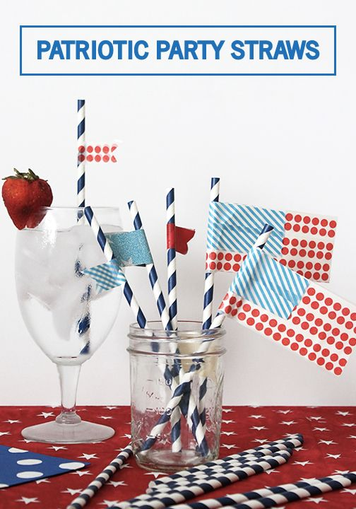What better way to celebrate the 4th of July, Labor Day, and all of summer's holidays than by making these DIY Patriotic Party Straws. This festive craft project is great for entertaining all summer long. Click to find the details!