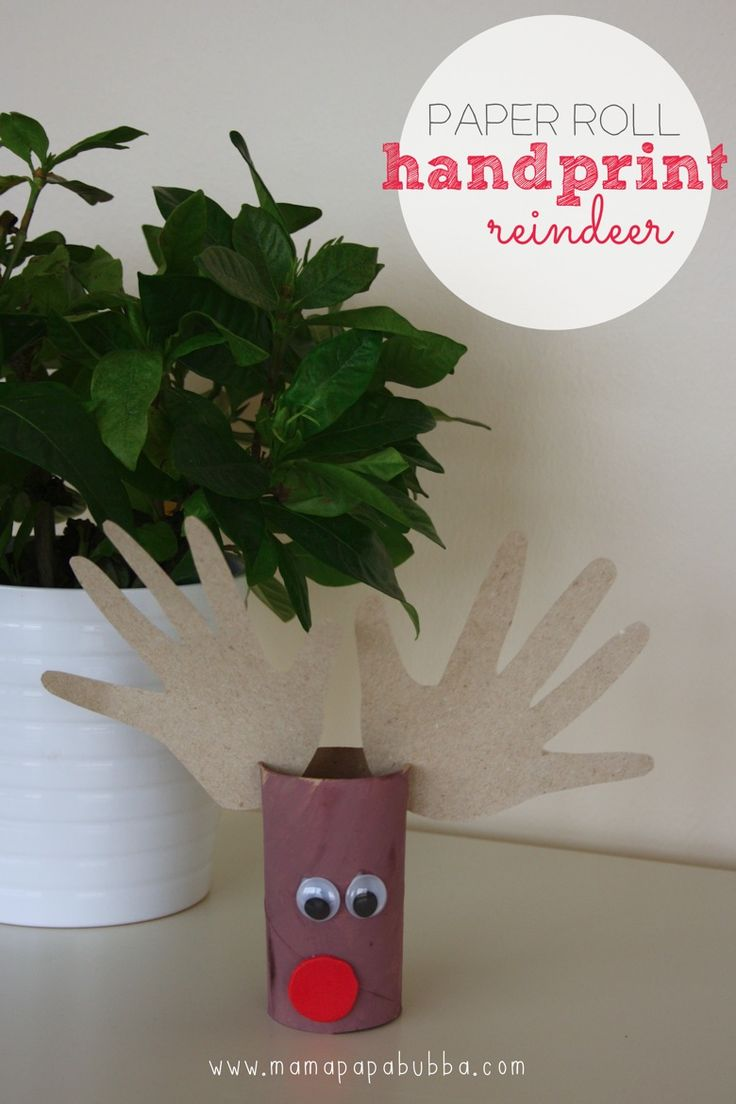 Paper Roll Handprint Reindeer ‹ Mama. Papa. Bubba.Mama. Papa. Bubba.
